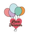 Heart and balloons icon. Love design. Vector graphic