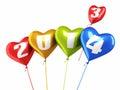 Heart balloons New Year 2014