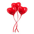Heart baloons picture of shaped red balloons vector eps illustration Stock Image