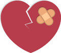 Heart bandage broken cracked with bandages Royalty Free Stock Photography