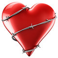 Heart with barbed wire Stock Photography