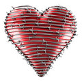 Heart with barbed wire Stock Photo