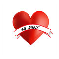 Heart be mine cute with a sash Royalty Free Stock Photography