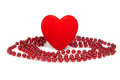 Heart&beads-1 Obrazy Stock