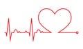 Heart beat. Cardiogram. Cardiac cycle. Medical icon. Royalty Free Stock Photo