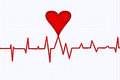 Heart beat illustration of monitor background Royalty Free Stock Photo