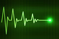 Heart beat line end of life Royalty Free Stock Photo
