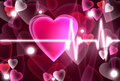 Heart beating Stock Images