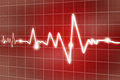 Heart beats digital illustration of concept Royalty Free Stock Photos