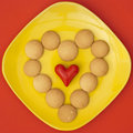 Heart of biscuits. Royalty Free Stock Photo