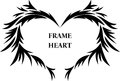 Heart black and white frame patterns Royalty Free Stock Photos