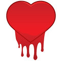 Heart bleeding concept illustration showing a red Royalty Free Stock Photography