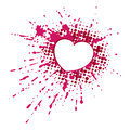 Heart on blob design element in vector Royalty Free Stock Images