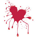 Heart with blood Stock Photo