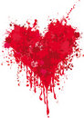 Heart with blood Royalty Free Stock Photography