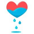 Heart blue drops Royalty Free Stock Photo