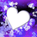 Heart blue flowers Royalty Free Stock Images