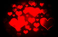 Heart bokeh background red and black Stock Image