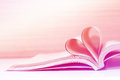 Heart book concept love Royalty Free Stock Photo