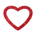 Heart border frame red glitter or Royalty Free Stock Photography