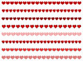 Heart borders Stock Image