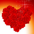 Heart bouquet Stock Images