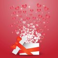 Heart box colorful illustration with for your design Stock Photo