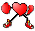 Heart boxing Stock Photo