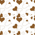 Heart brown pattern Stock Image
