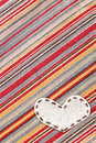 Heart Bubble fabric on Jean Stock Images