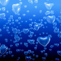 Heart bubbles underwater Royalty Free Stock Photo