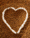 Heart of buckwheat Stock Photo