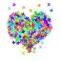 Heart and butterflies Royalty Free Stock Image