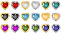 Heart Buttons Stock Photography