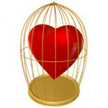 Heart in a cage Stock Photo