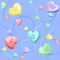 Heart candy and swirls Stock Photography