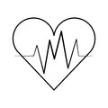Heart cardio isolated icon