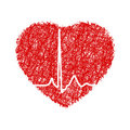 Heart with cardiogram. EPS 8 Royalty Free Stock Photography