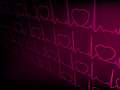 Heart cardiogram with shadow on purple. EPS 8 Stock Photos