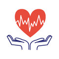 Heart care symbol vector illustration.