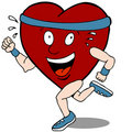 Heart Cartoon Character Runner Stock Image