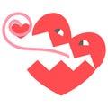 Heart, cartoon Royalty Free Stock Photo