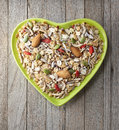 Heart Cereal Fruit Granola Muesli Bowl Royalty Free Stock Photo