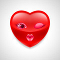 Heart character Royalty Free Stock Photo