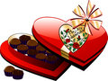 Heart Chocolate Box Stock Photography