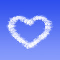 Heart from cloud in the blue sky Royalty Free Stock Photos