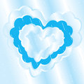 Heart cloud rain vector illustration Stock Photography