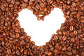 Heart of coffee Stock Photos