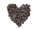 Heart from coffee beans Royalty Free Stock Image