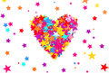 Heart of the colored stars Royalty Free Stock Photo